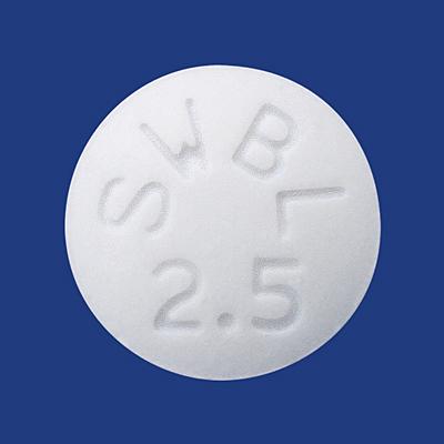 ビソプロロールフマル酸塩錠2.5mg「サワイ」(メインテート錠2.5mgの ...
